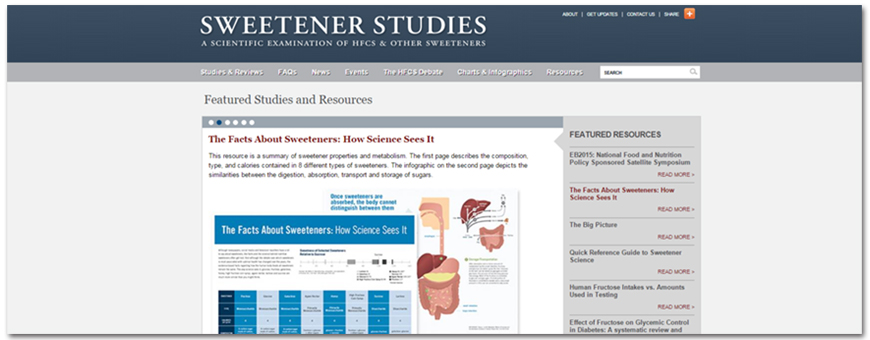 sweetener studies website