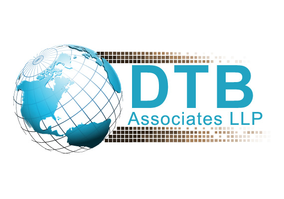 multi-layered globe logo for DTB Associates