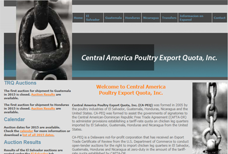 Central America Poultry Export Quota website